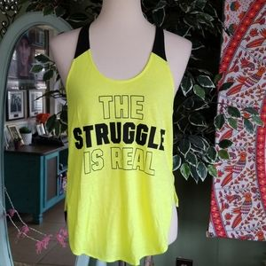 Victoria Secret PINK The struggle is Real tank top